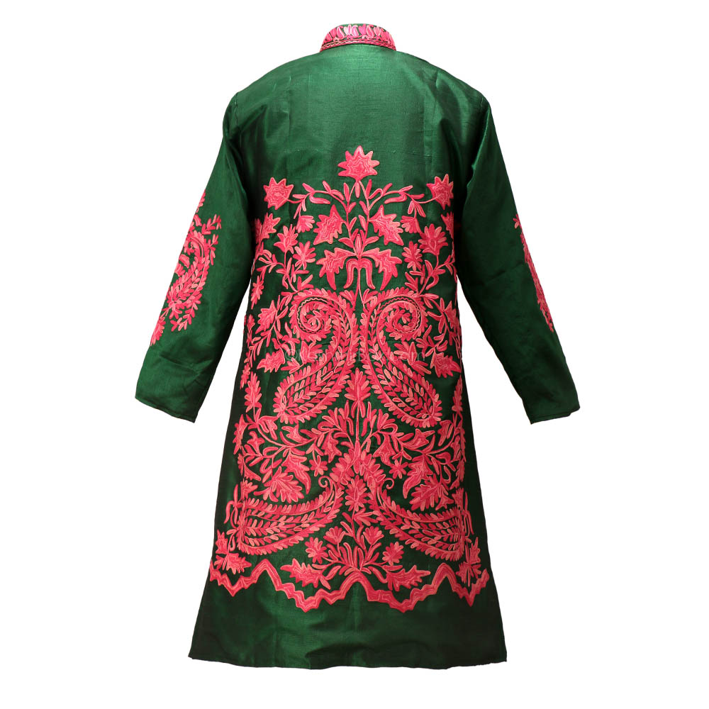 Juniper Aari Embroidered Silk Jacket