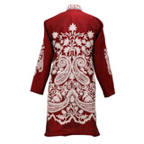 Jam Red Embroidered Silk Jacket