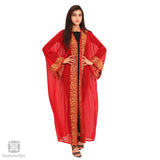 Red and Tawny Aari Bisht Gown