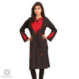 Black Aari Embroidered Cotton Blend Kurti