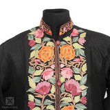 Colourful Sprouts Aari Kari Black Silk Jacket