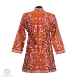 Efflorescent Aari Embroidered Brown Silk Jacket - Kashmir Box