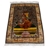 Silk Carpet 2.6' x 4' - Kashmir Box