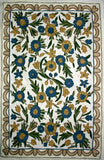 Floral Gold Green Rug &  Wall Hanging