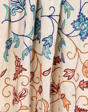 Flower Vines Crewel Embroidered Curtain - Kashmir Box