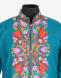 Blue Sky Aari Embroidered Cashmilon Jacket - Kashmir Box