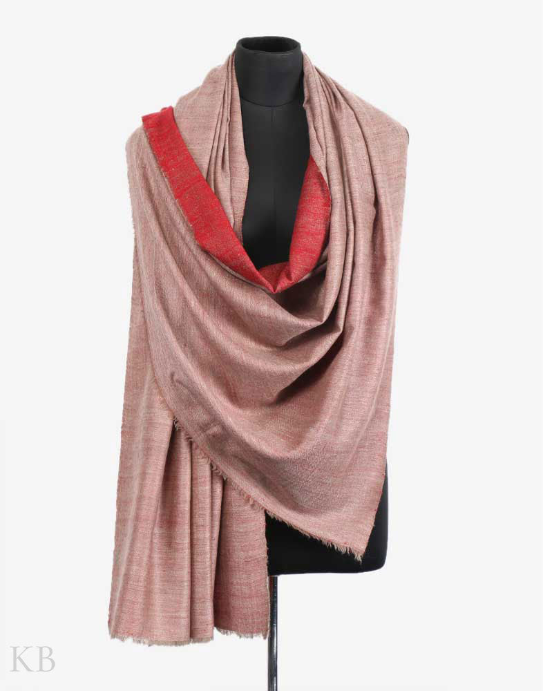 7f59397dc Red Brown Reversible Cashmere Pashmina Shawl Red Brown Reversible Cashmere  Pashmina Shawl
