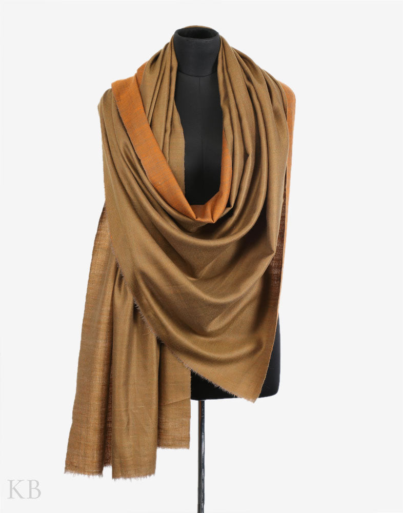 29d93a096 Shades Of Golden Reversible Cashmere Pashmina Shawl Shades Of Golden Reversible  Cashmere Pashmina Shawl