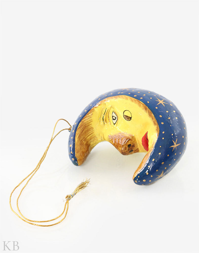 Blue Moon Paper Mache Wall Hangings (Set of 2)