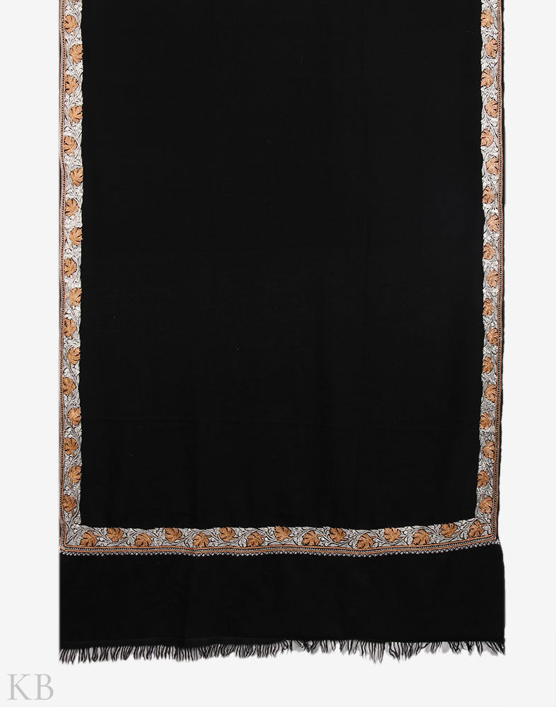 Chinar Borders Hand Embroidered Cashmere Pashmina Shawl