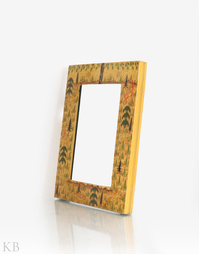 Yellow Paper Mache Photo Frame