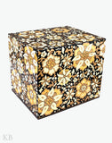 Paper Mache Crafted Sikender On Black Storage Box