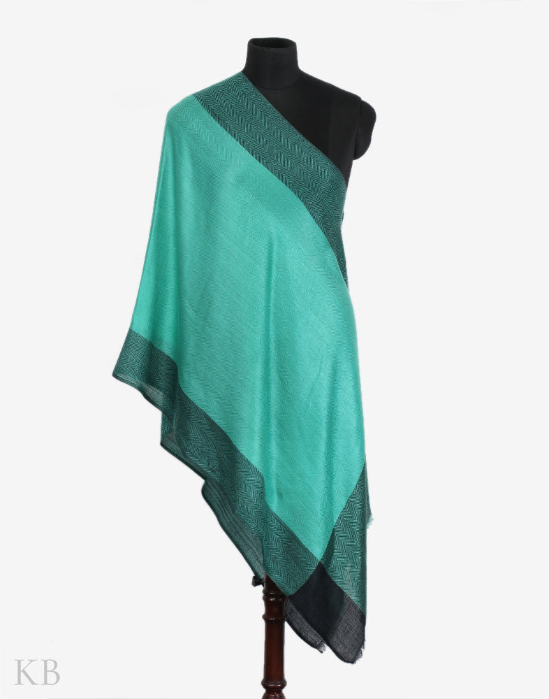 Black And Green Woolen Stole
