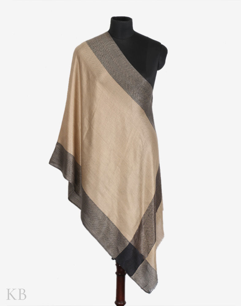 Black And Tan Woolen Stole