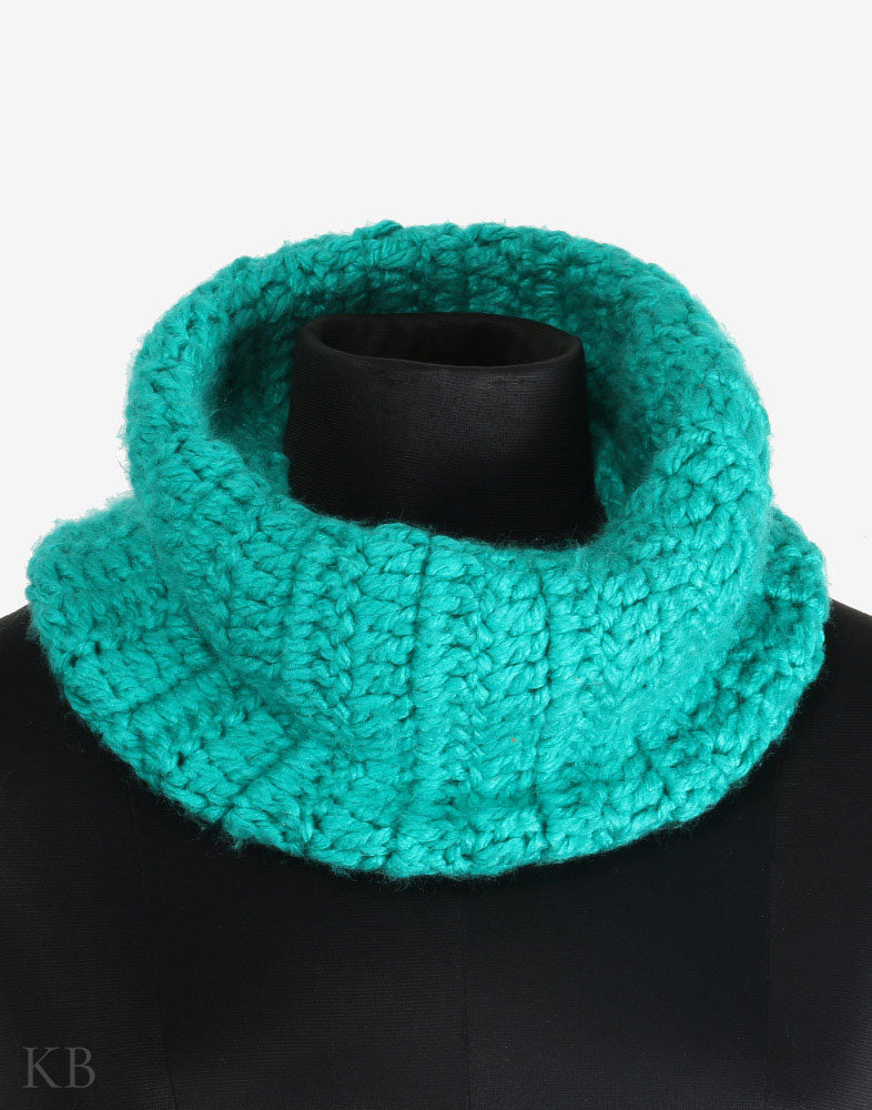 Green Cap And Cowl Set