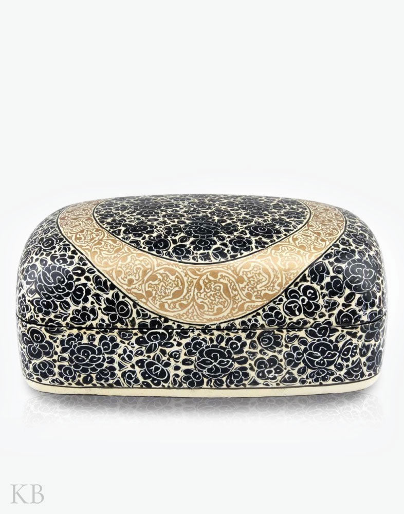 Paper Mache Golden Black Meter Box