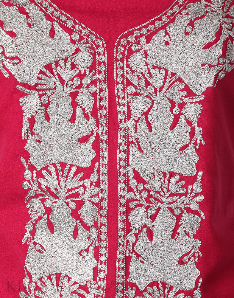 Hot Pink Chinar Tilla Embroidered Cotton Suit