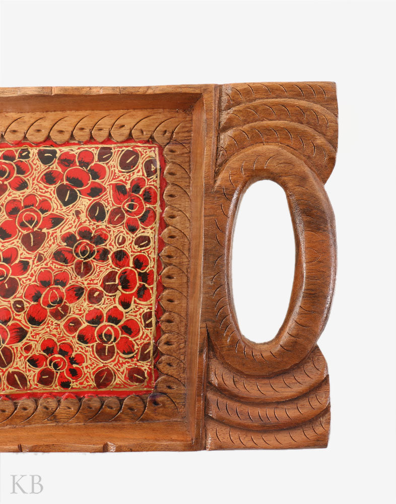 Walnut Wood Paper Mache Tray