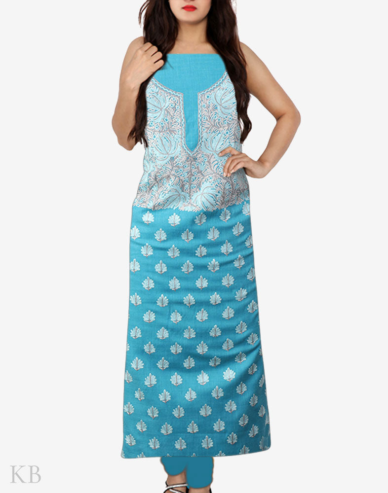 Blue Chinars Hand Embroidered Cotton Suit