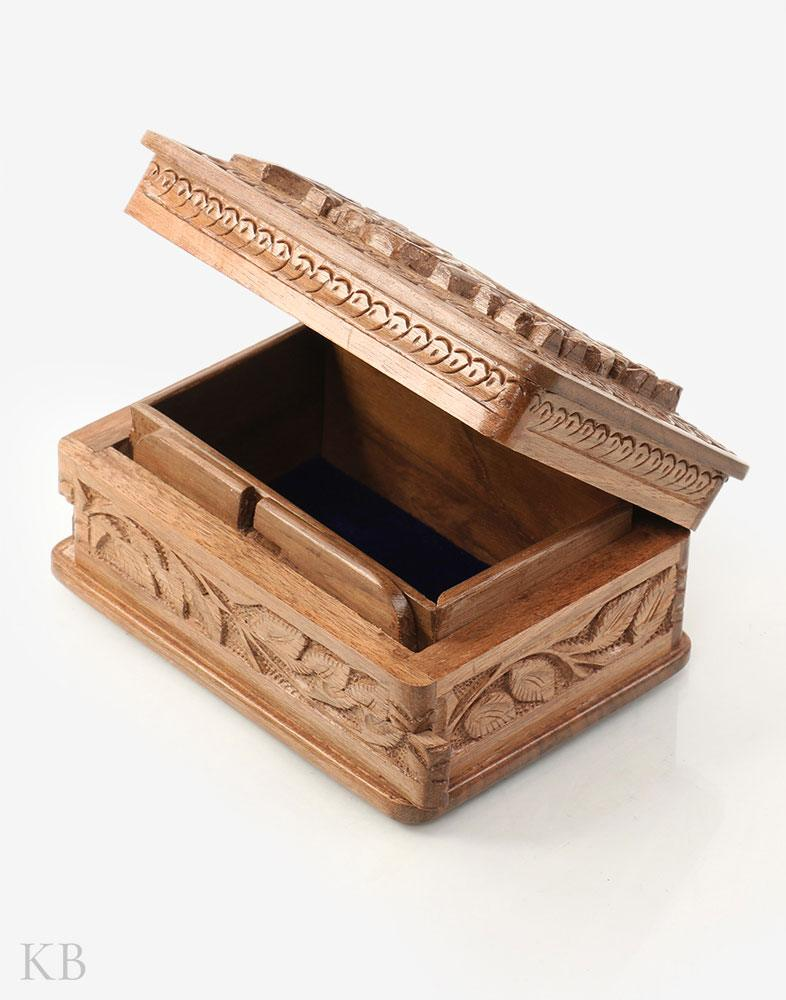 Spring Bloom Walnut Wood Box