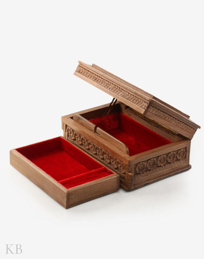 Flower Paradise Walnut Wood Box