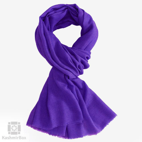 Purple  Woolen Shawl - Kashmir Box