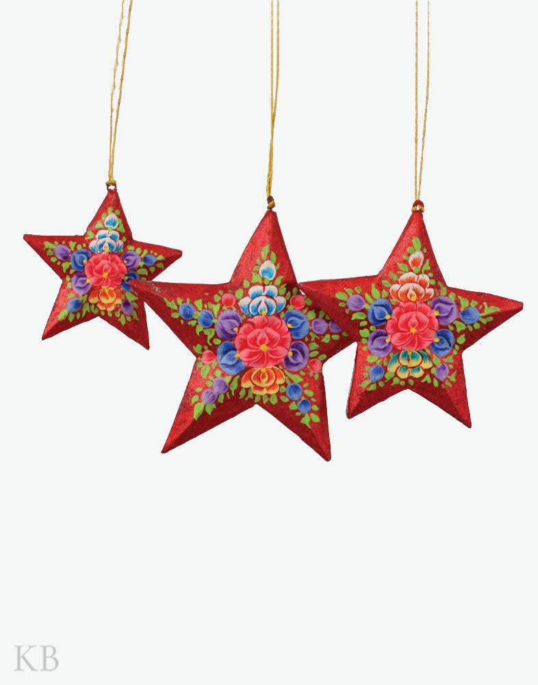 Red Glitter Star Set