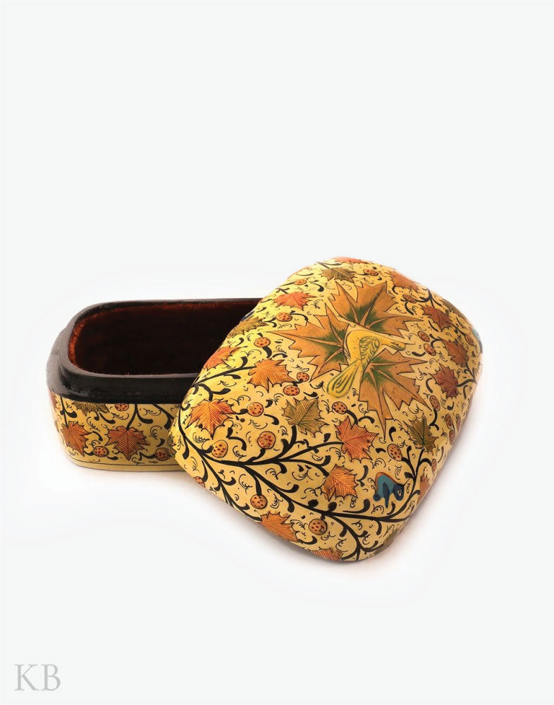 Chinar Embossed Yellow Meter Box
