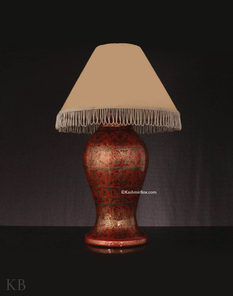 Red Chinar Table Lamp