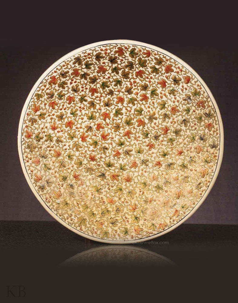 Chinar Embossed Wall Plate