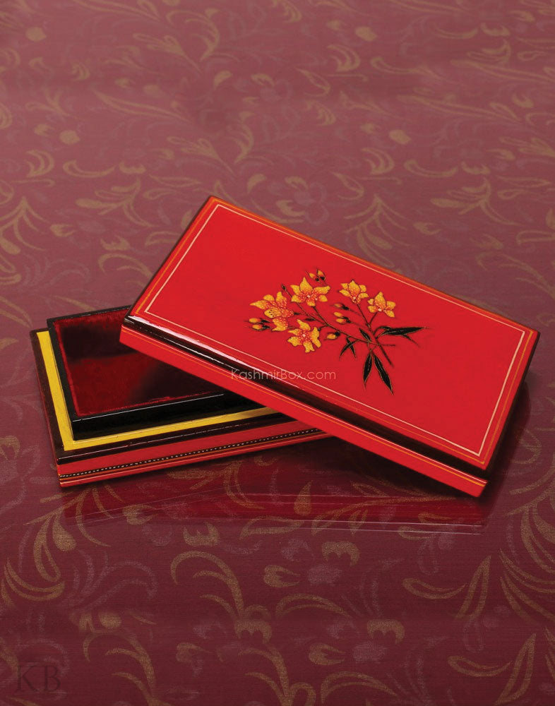 Red Bootidar Box - Kashmir Box