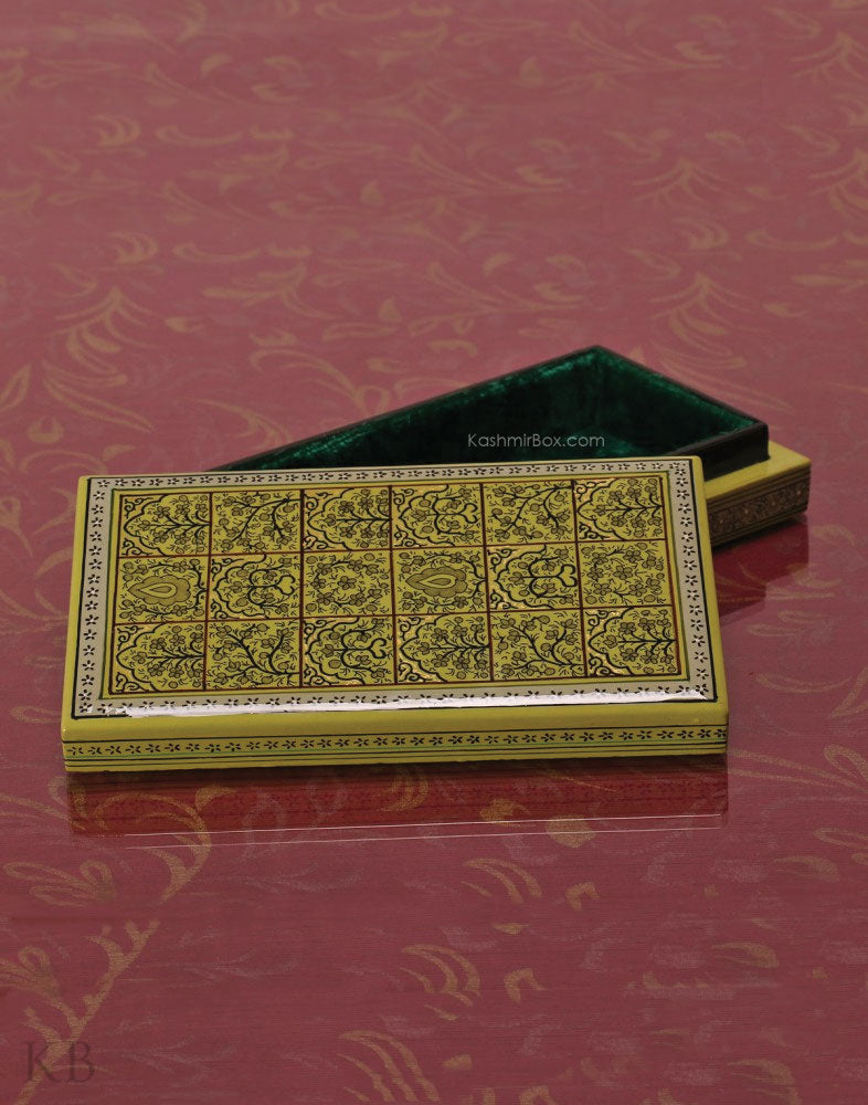 Olive Green Dabbdar Box - Kashmir Box