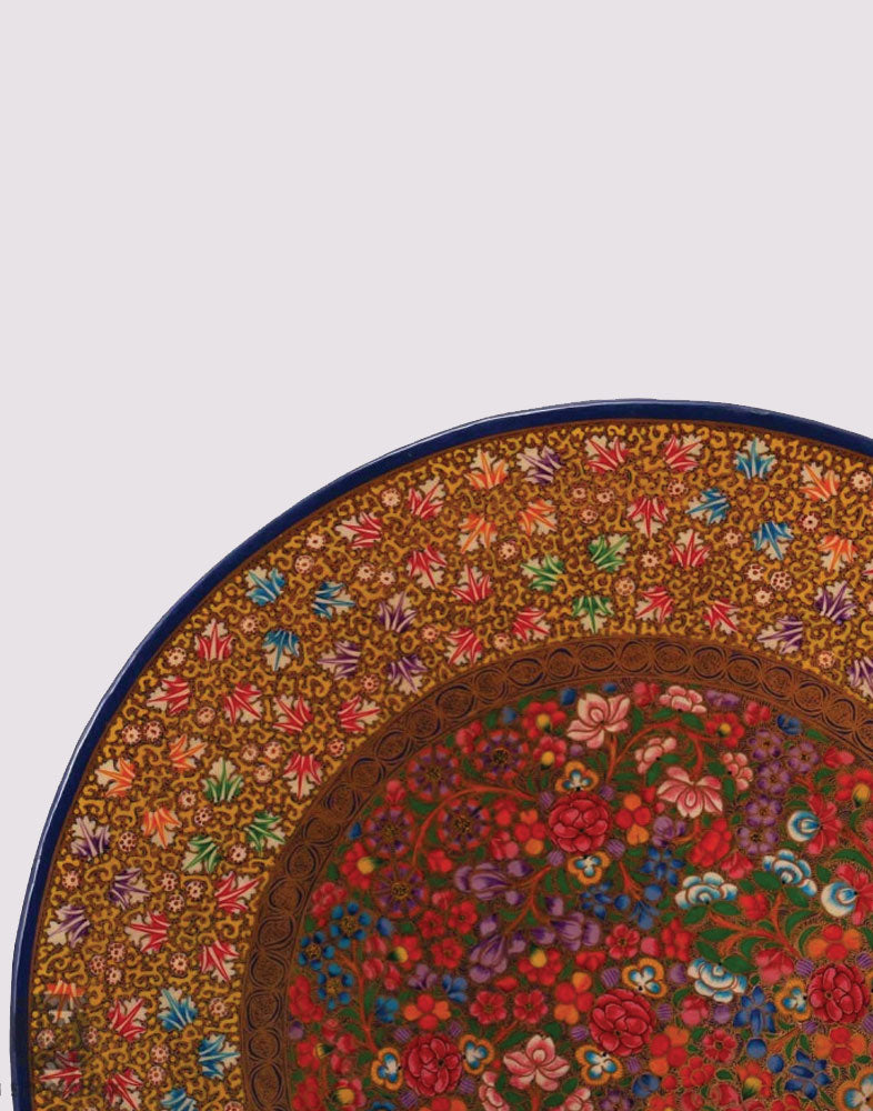 Blue Floral Wall Plate