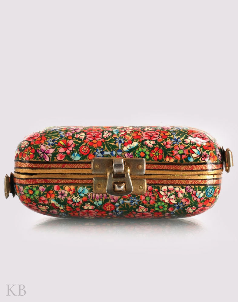 Paper Mache Small Hazara Party Clutch - KashmirBox.com