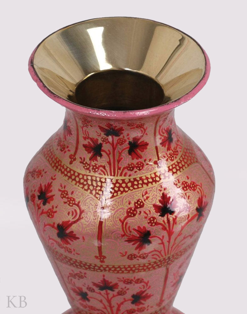 Peach Chinar Paper Mache Flower Vase