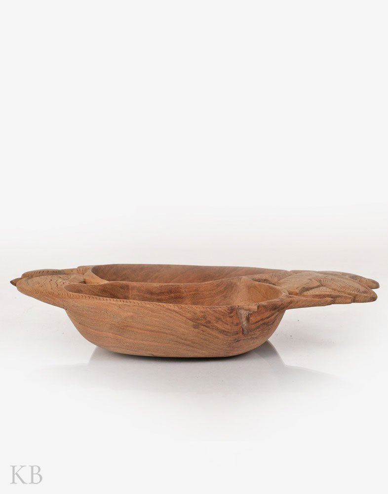 Walnut Wood Handmade Dragon Bowl
