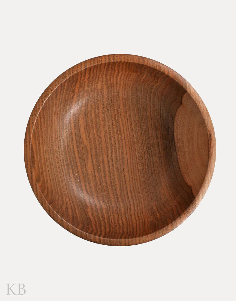 Walnut Wood Minimalist Carved Bowl