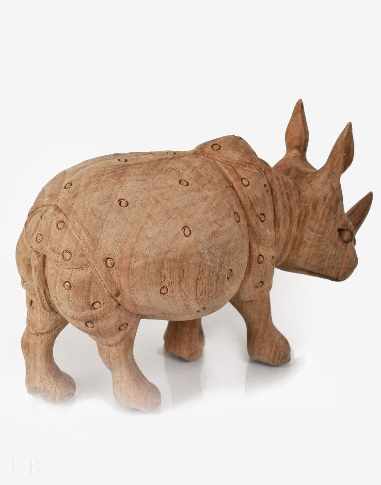 Walnut Wood Carved Hippopotamus