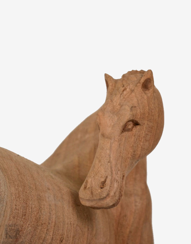 Walnut Wood Handmade Decorative Horse