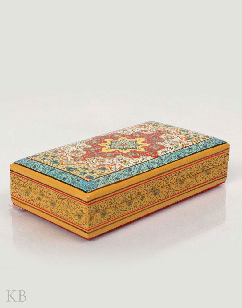 Heritage Carpeted Papier Mache Box - Kashmir Box