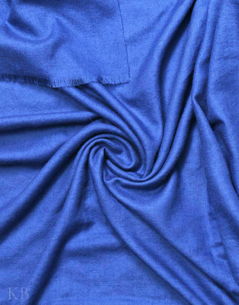 Navy Blue Solid Cashmere Pashmina Shawl
