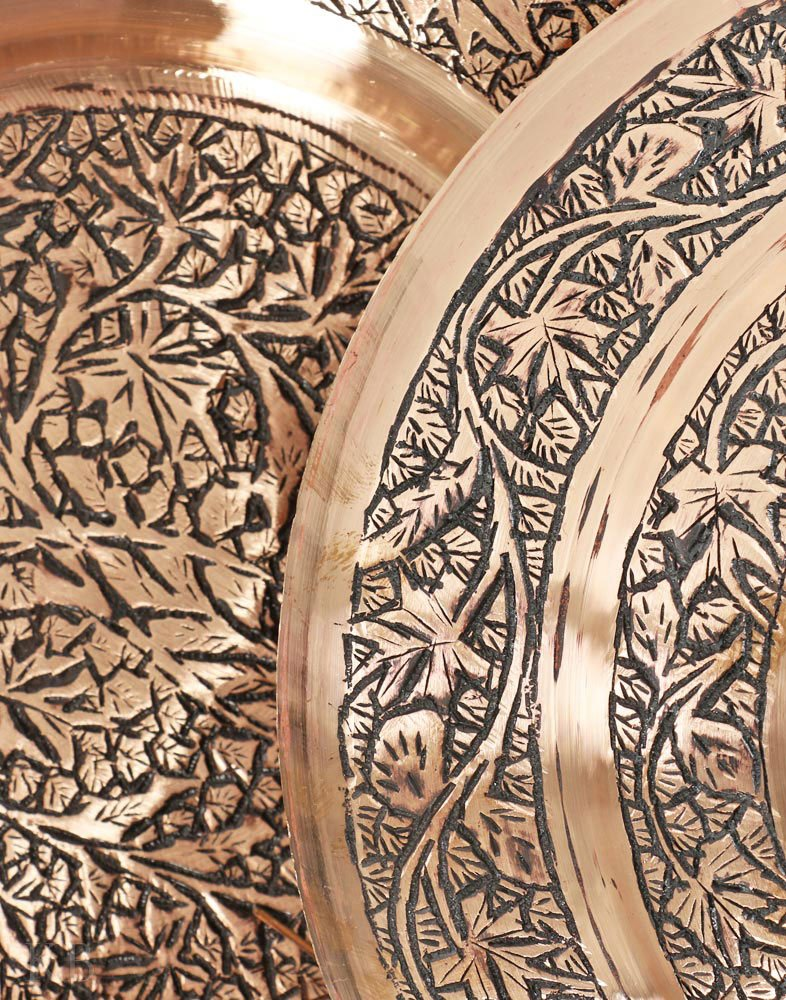 Kashmiri Decorative Copper Trami With Sarposh