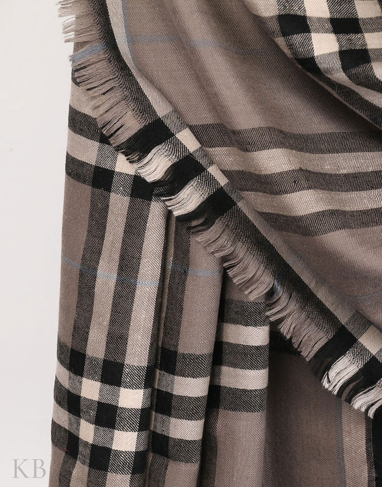 Multicoloured Tartan Check Cashmere Pashmina Shawl