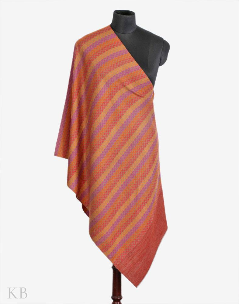Rust And Amber Cashmere Pashmina Stole