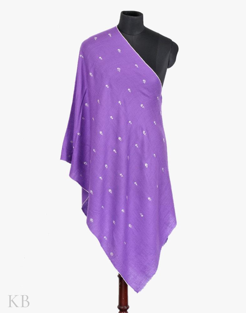 Purple Bootidaar Hand Woven Cashmere Pashmina Stole