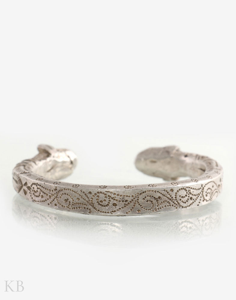 Hand Engraved Silver Bangle