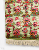 Run On Lotus Silk Runner Carpet - Kashmir Box