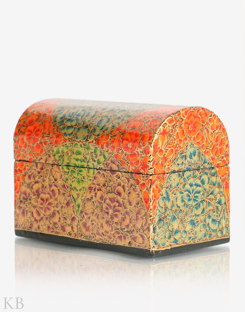 Flowery Trunk Shaped Decorative Box - Kashmir Box