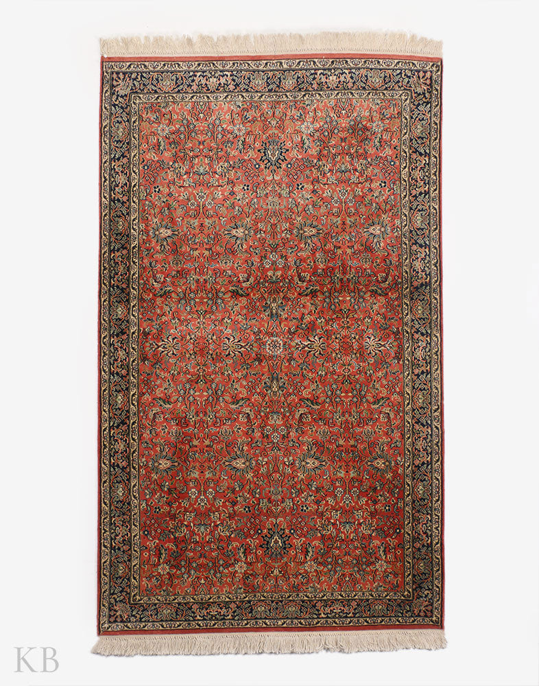 Peach Baghdaar Silk Carpet