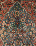 Sky Blue Tree Of Life Silk Carpet - Kashmir Box